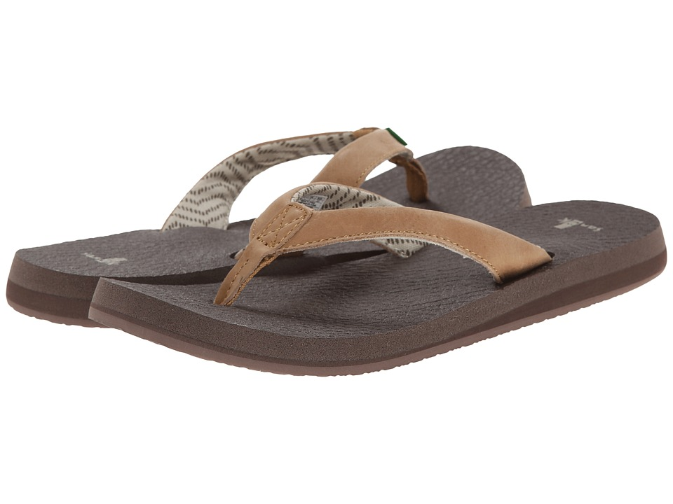 Sanuk Yoga Mat Primo Tan Womens Sandals