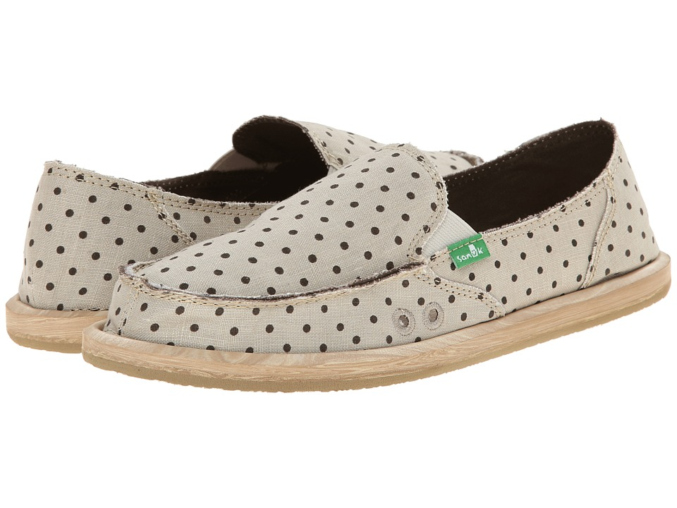Sanuk Hot Dotty (Natural/Brown Dots) Women