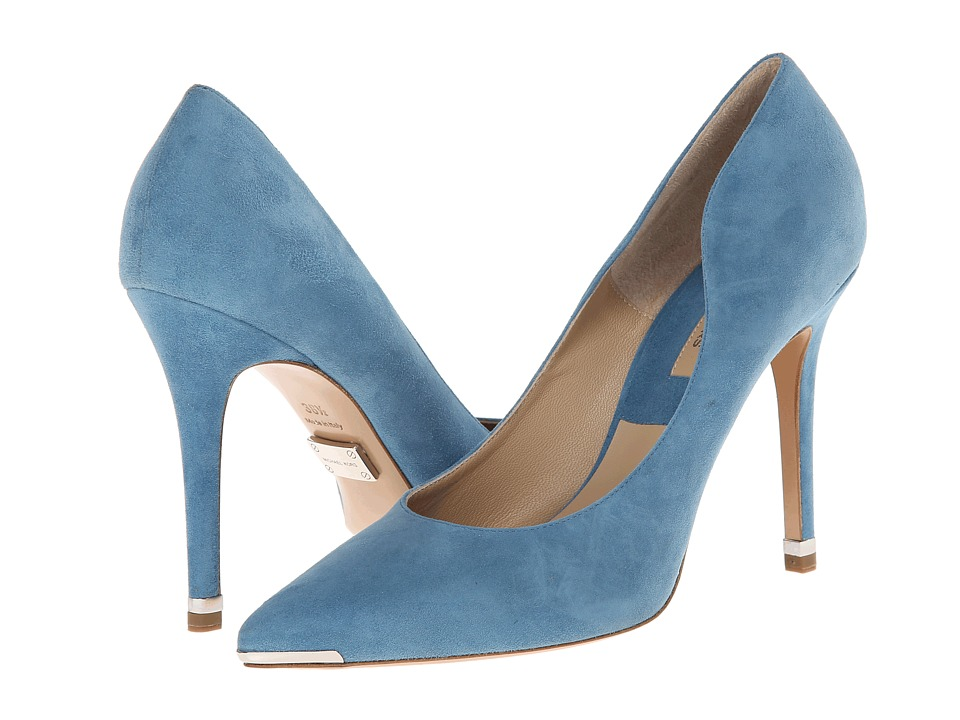 Kors Avra Cornflower Palladium Kid Suede High Heels shoes online