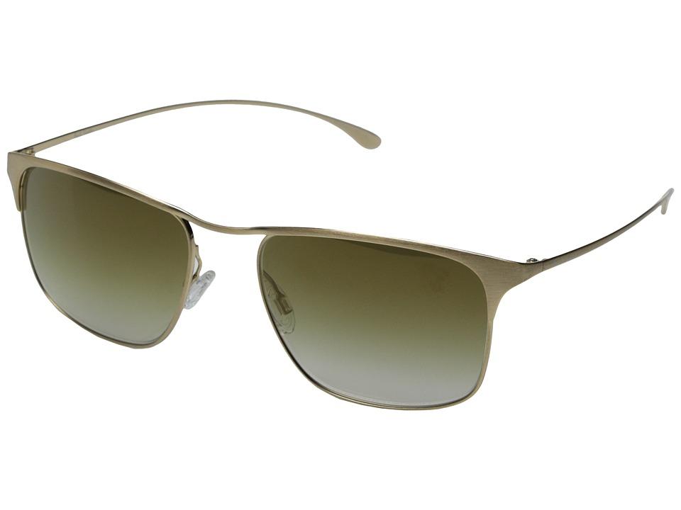 Paul Smith Lanyon Size 55 Brushed Gold/Bronze Flash Mirror Fashion Sunglasses
