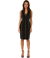 Versace Collection - Studded V-Neck Sheath Dress