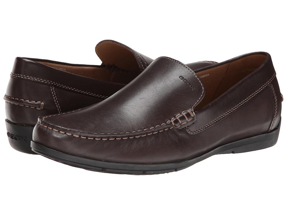 Geox U Simon Coffee Mens Slip on Shoes