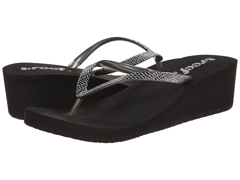 Reef Krystal Star Sassy (Black/Silver) Women's Sandals
