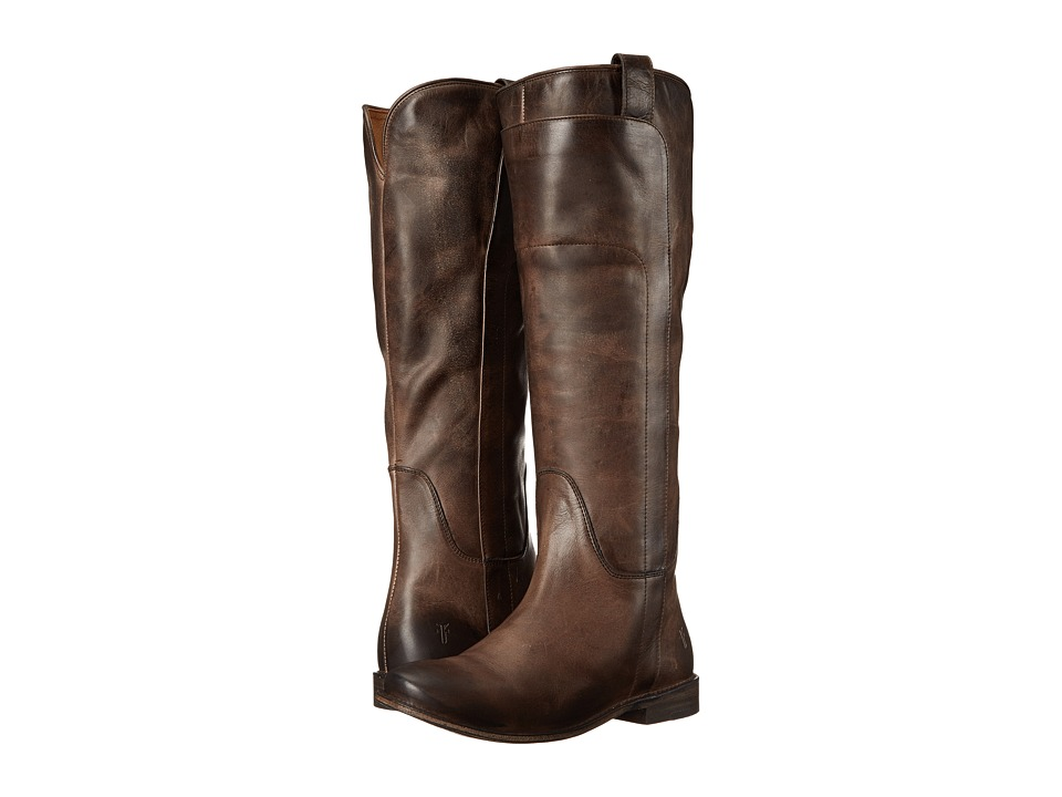 Frye Paige Tall Riding Slate Antique Pull Up Womens Pull on Boots