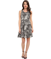 Karen Kane - Graphic Houndstooth Dress