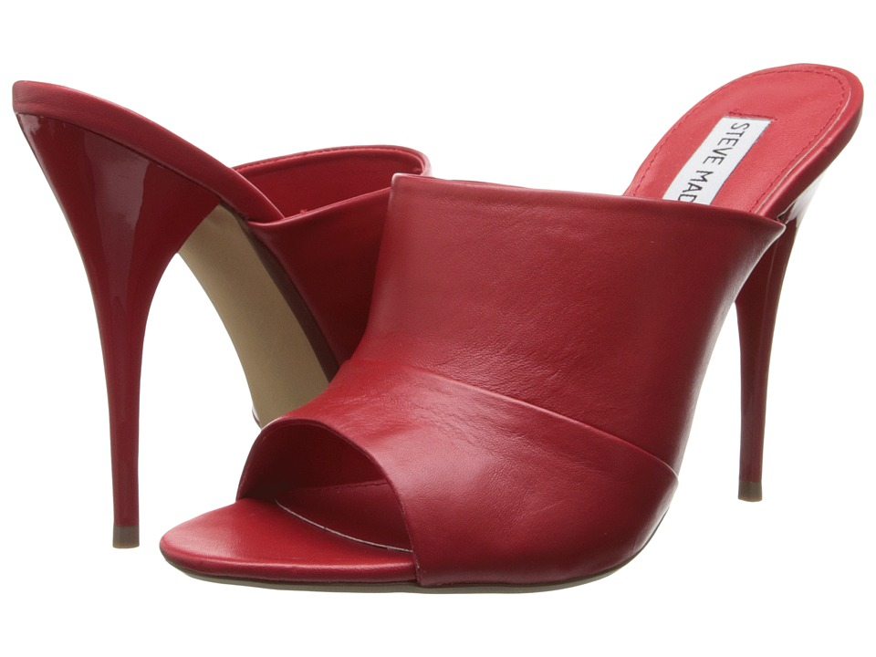 Steve Madden Barbb (Red Leather) High Heels