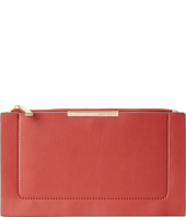 BCBGMAXAZRIA - Becca Double Layer Faux Leather Zip Top Pouch