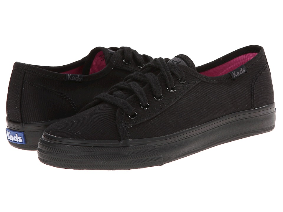 Keds Kids Double Up Little Kid/Big Kid Black/Black Girls Shoes
