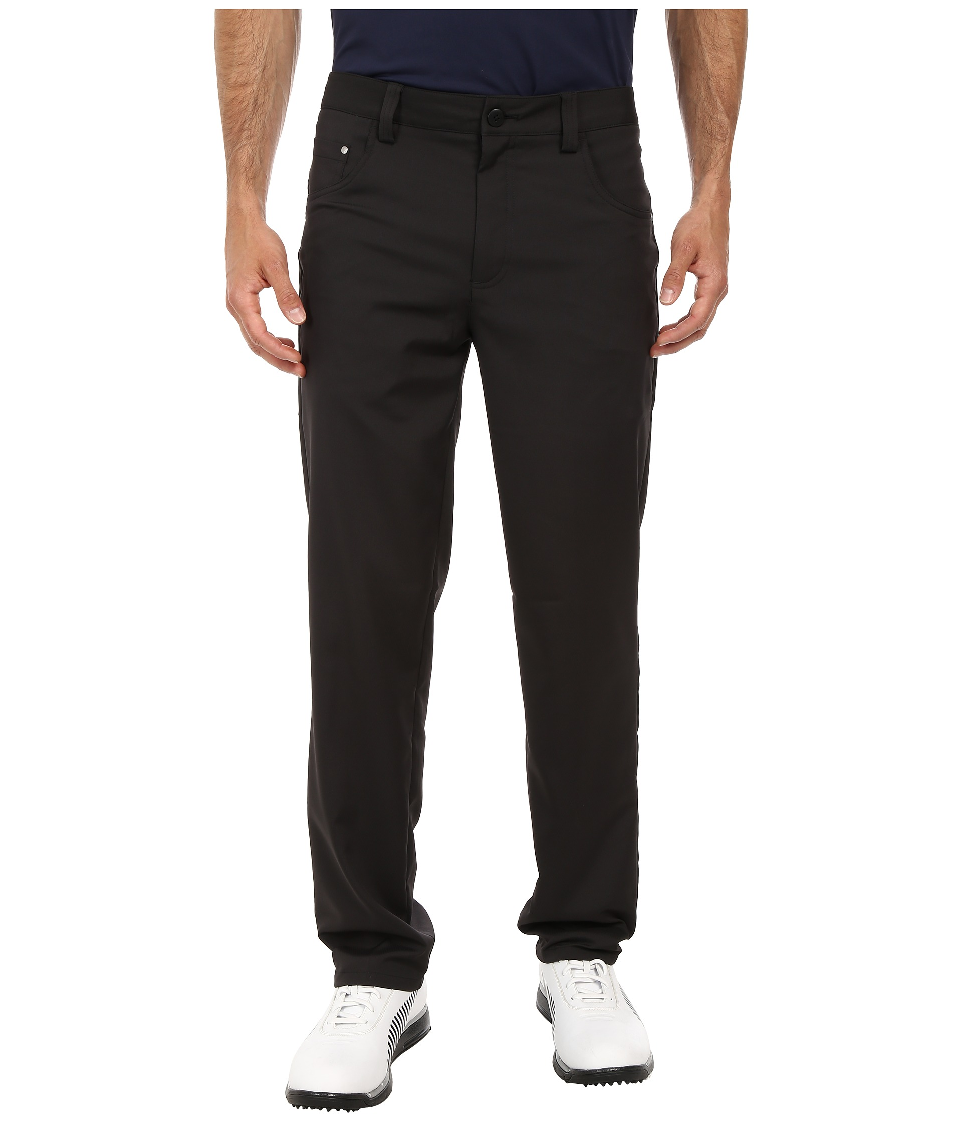 puma white golf pants