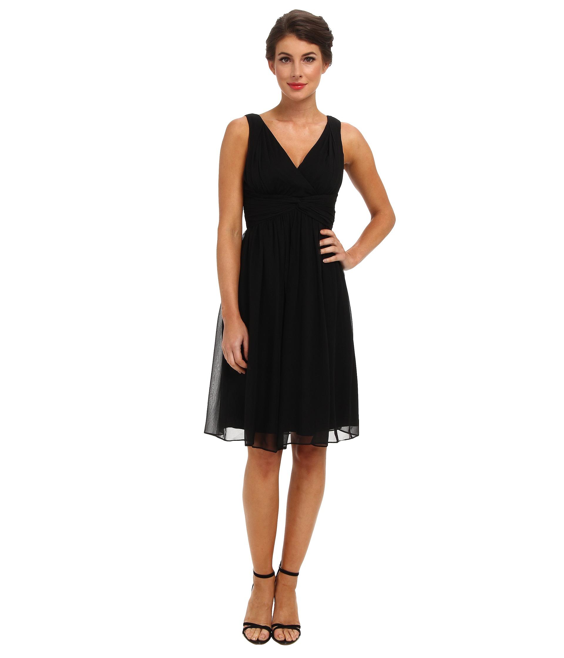 Donna Morgan Jessie Silk Chiffon Dress - 6pm.com