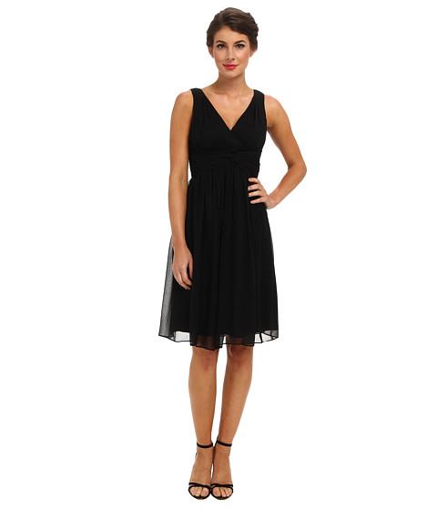 Donna Morgan - Jessie Silk Chiffon Dress (Black) Women's Dress
