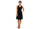 Donna Morgan Jessie Silk Chiffon Dress (Black)