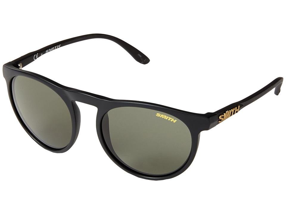 Smith Optics Marvine Matte Black/Polar Gray Green Carbonic TLT Lenses Plastic Frame Fashion Sunglasses