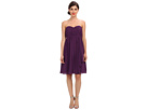 Donna Morgan - Lindsey Strapless Chiffon Dress (Perfect Plum)