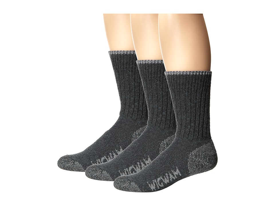 Wigwam All Weather 3 Pack Medium Grey Crew Cut Socks Shoes