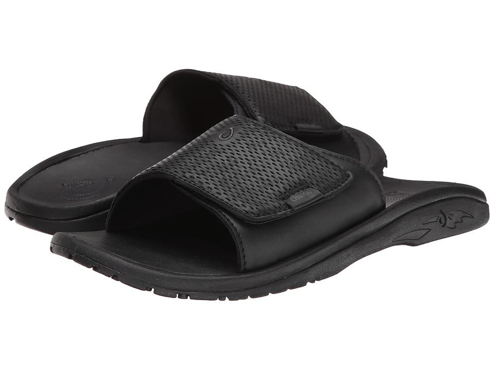 OluKai - Kekoa Slide (Black/Black) Men