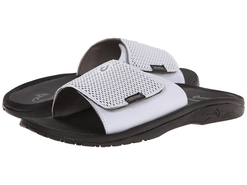 OluKai - Kekoa Slide (White/Black) Men