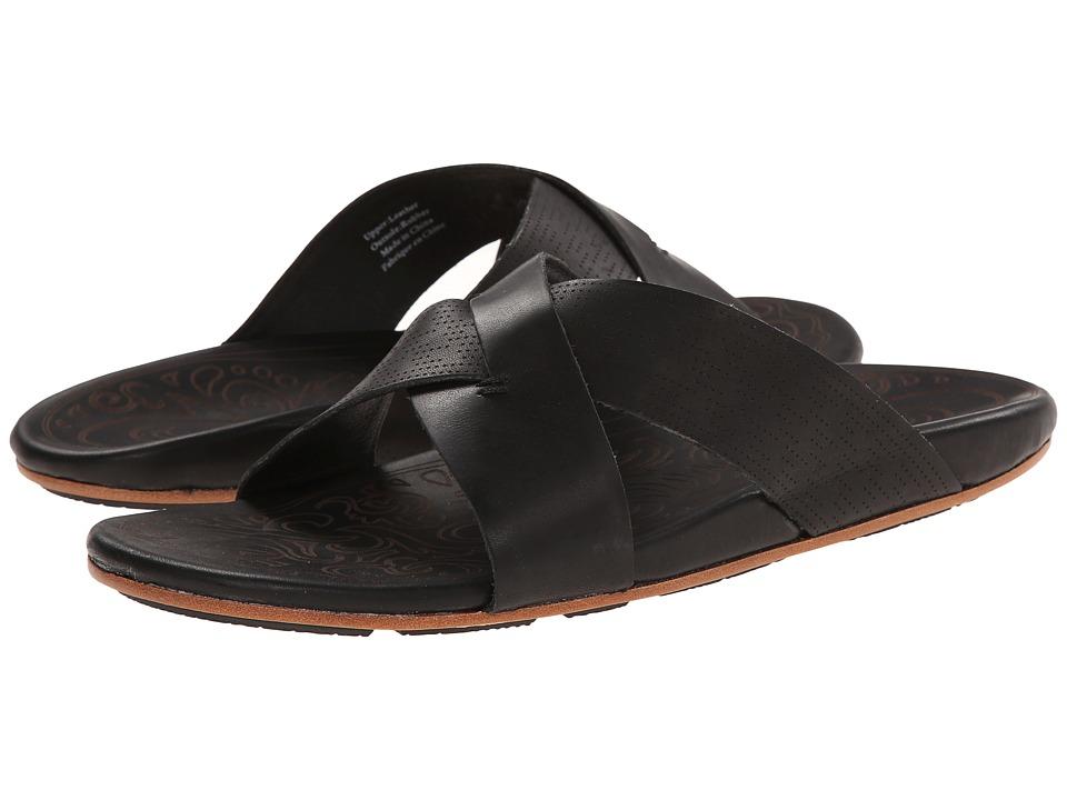 OluKai - Punono Slide (Black/Black) Men