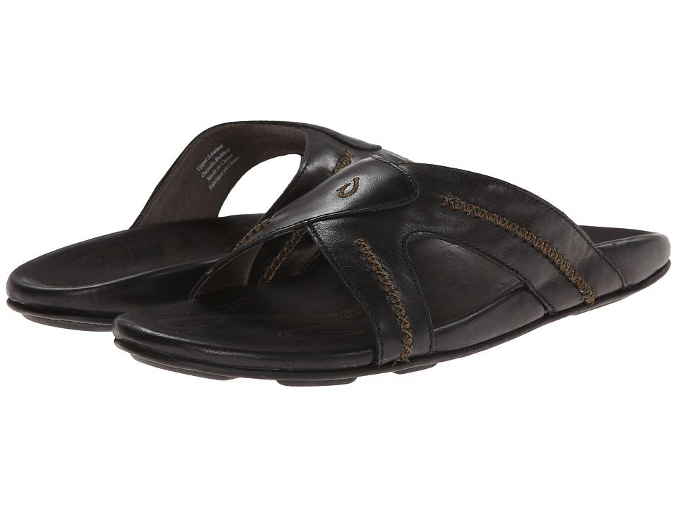 OluKai Mea Ola Slide (Black/Black) Men