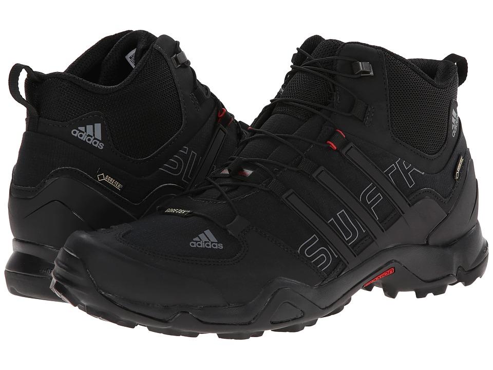 adidas Outdoor - Terrex Swift R Mid GTX (Black/Vista Grey/Power Red) Men