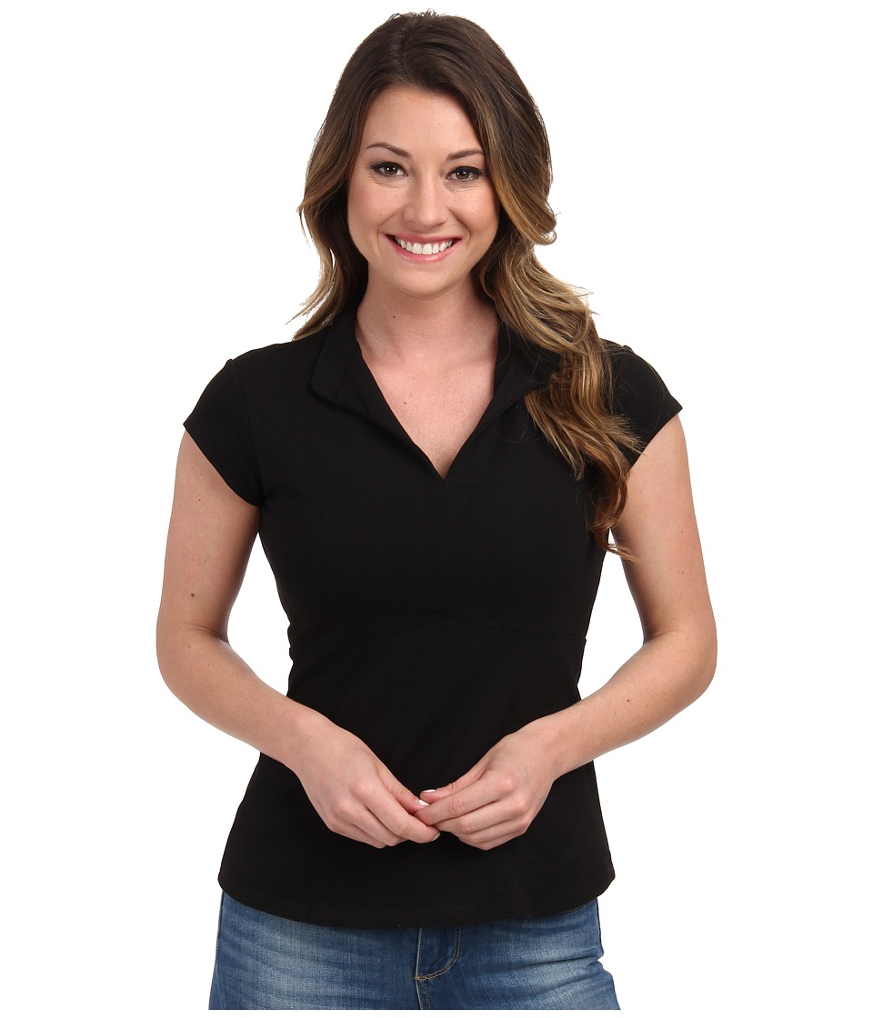 FIG Clothing - Bom Top (Black) Womens Short Sleeve Pullover