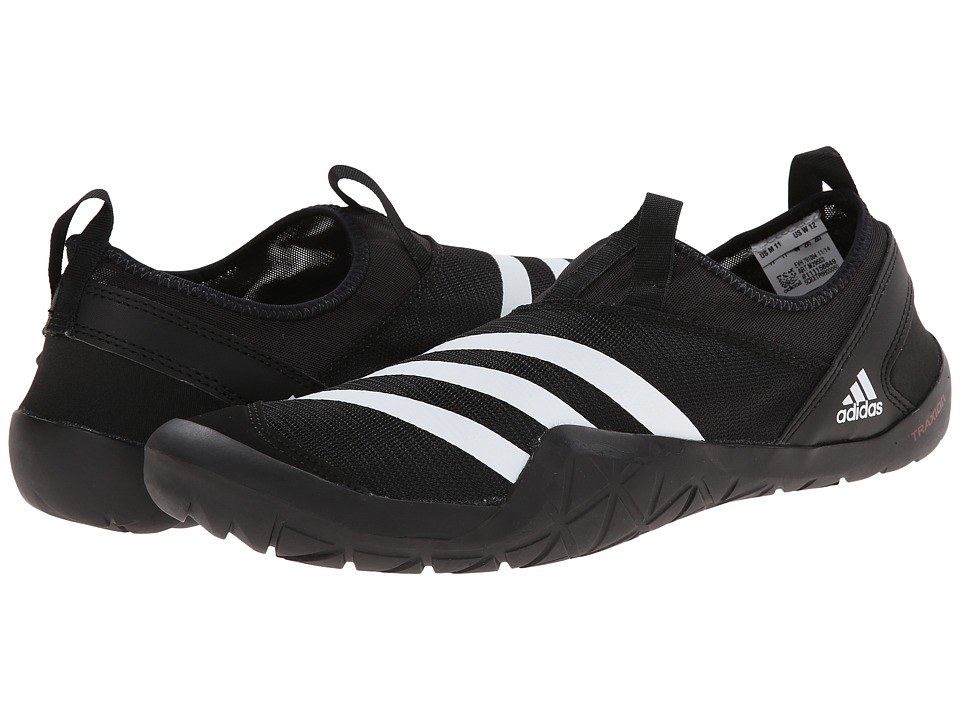 adidas Outdoor - CLIMACOOL Jawpaw Slip-On (Black/White/Silver Metallic) Mens  Shoes
