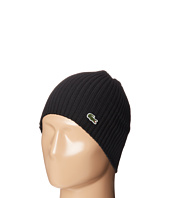 Lacoste - Green Croc Ribbed Wool Knit Beanie