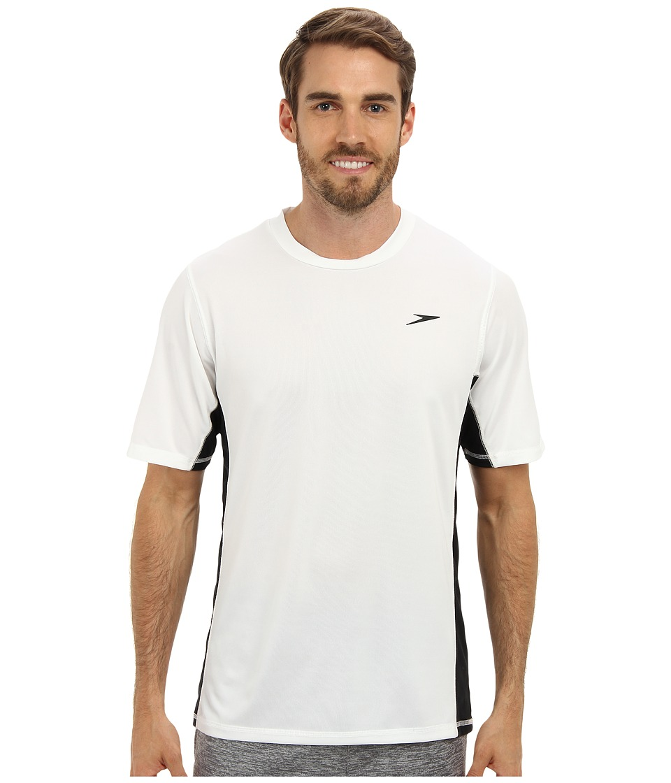 Speedo Longview Swim Tee White Mens Swimwear