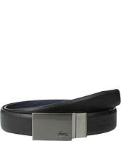 Lacoste - Premium Reversible Leather Plaque Buckle Belt
