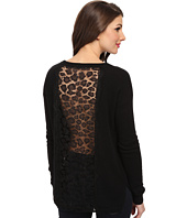 Autumn Cashmere - Hi Lo w/ Leopard Lace Sweater