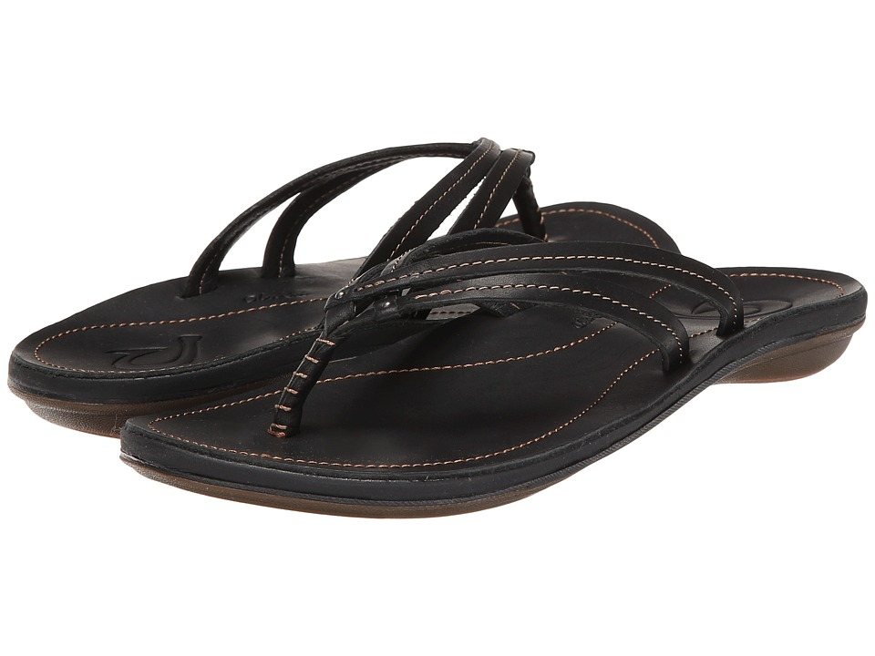 OluKai - U'i (Black/Black) Women's Sandals