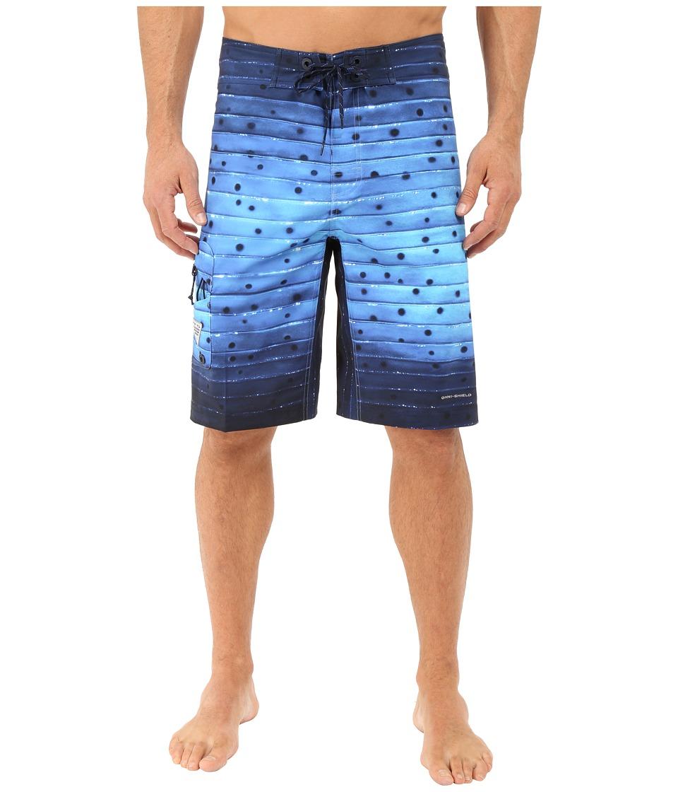 Columbia PFG Offshore Boardshort Vivid Blue Billfish Stripe Mens Swimwear