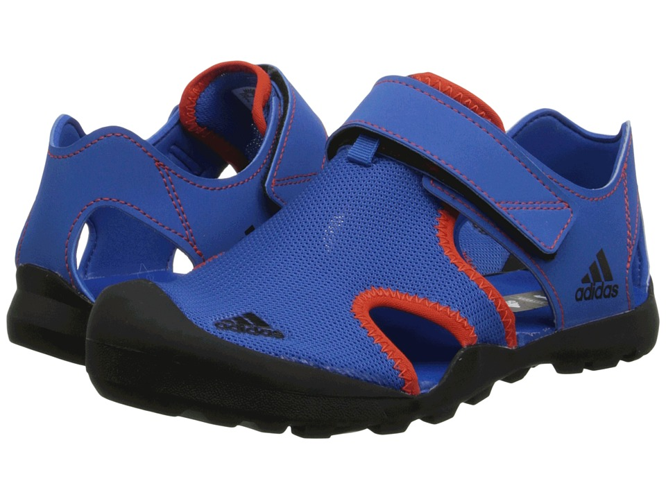 adidas Outdoor Kids Captain Toey Toddler/Little Kid/Big Kid Bright Royal/Black/Bold Orange Boys Shoes