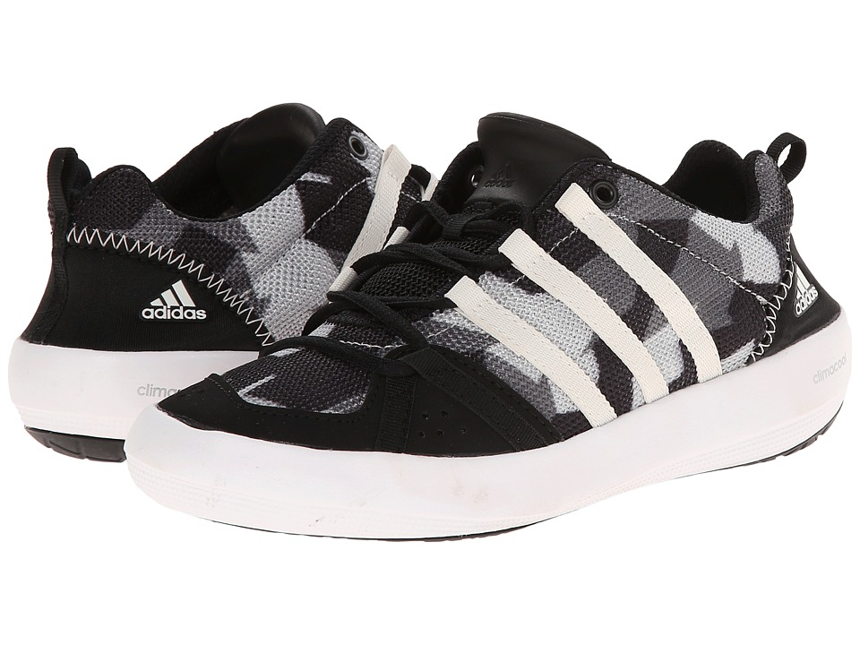 adidas Outdoor Kids Climacool Boat Lace Little Kid/Big Kid Black/Chalk White/Vista Grey Boys Shoes