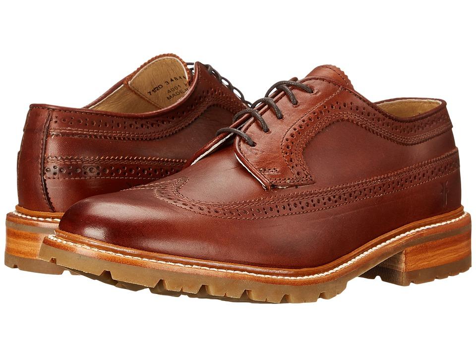 Frye - James Lug Wingtip (Redwood Smooth Full Grain) Men
