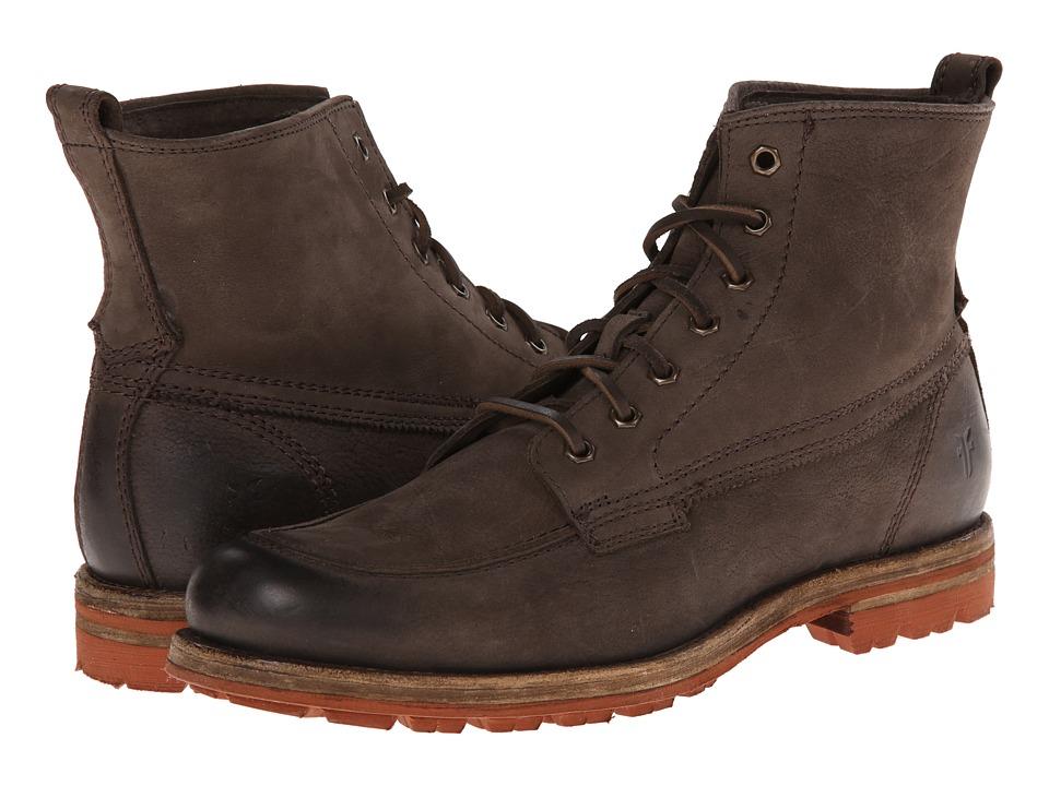 Frye - Phillip Lug Workboot (Charcoal Textured Full Grain) Men