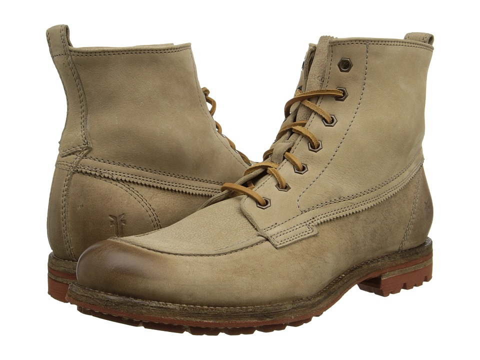 Frye - Phillip Lug Workboot (Cement Textured Full Grain) Mens Work Lace-up Boots