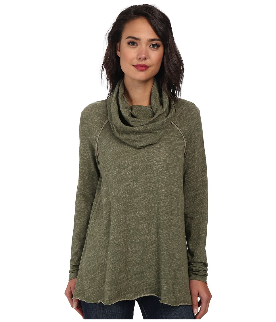 Free People Cocoon Cowl Pullover Army Womens Long Sleeve Pullover