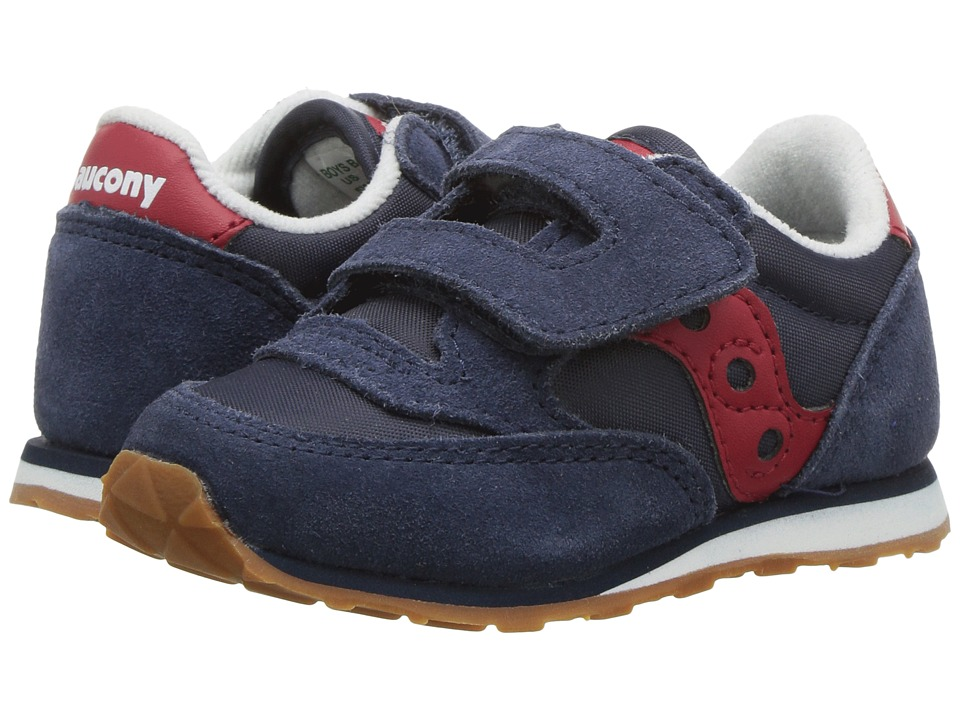 Saucony Kids Baby Jazz HL Toddler/Little Kid Navy/Red Boys Shoes