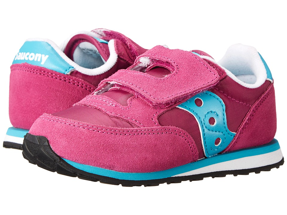 Saucony Kids Jazz HL Toddler/Little Kid Magenta/Blue Kids Shoes