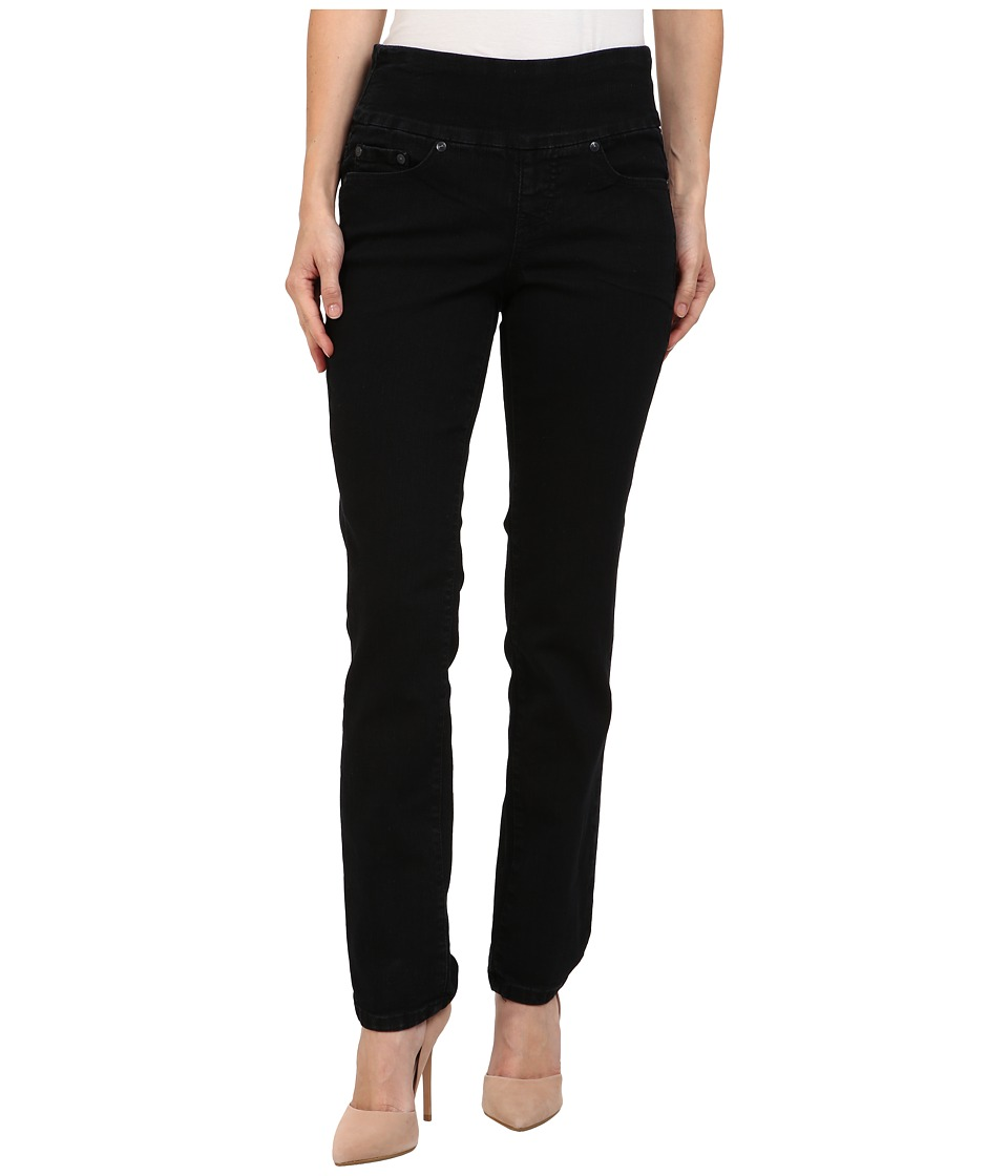 Jag Jeans Petite - Petite Peri Pull-On Straight in Black Void (Black Void) Womens Jeans
