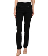Jag Jeans Petite - Petite Peri Pull-On Straight in Black Void