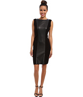 Calvin Klein - Sweater Dress w/ Faux Leather