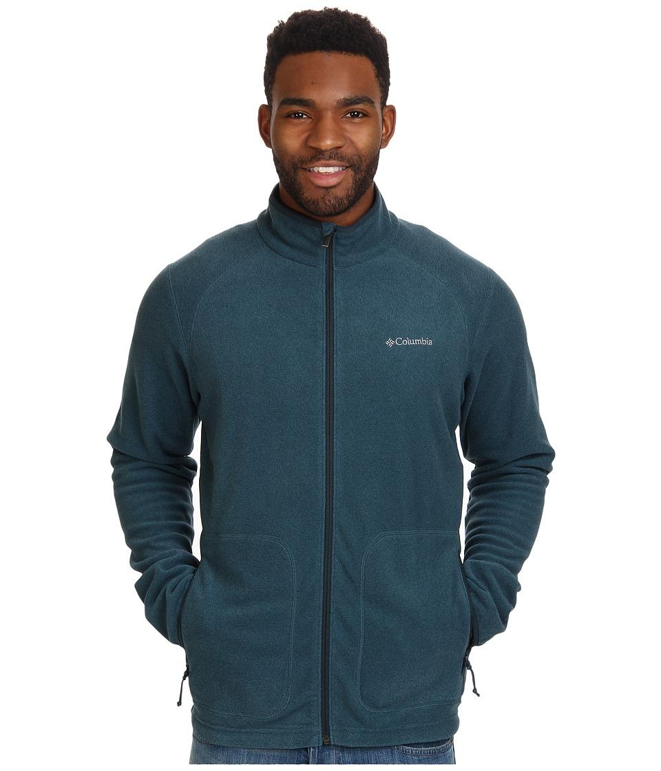 Columbia - Hombre Springs Fleece Jacket (Everblue/Night Shadow Stripe/Night Shadow Binding & Zips) Men