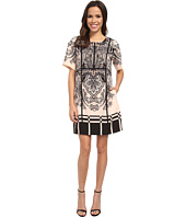 Adrianna Papell - Print Heavy Wash 3/4 Sleeve Dress