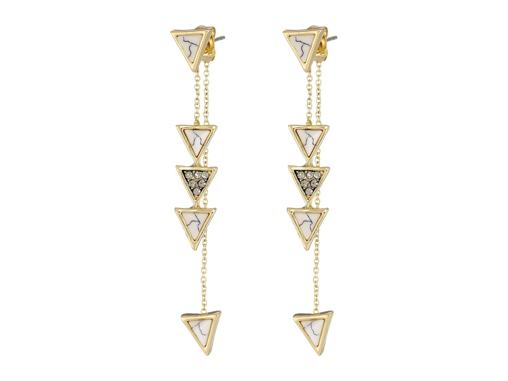house of harlow 1960 triangle trellis drop earrings
