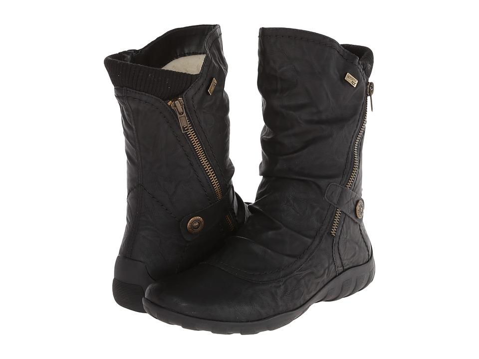 Rieker - R3484 Liv 84 (Black/Black) Womens Zip Boots