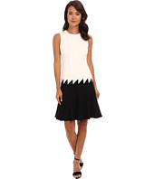 Calvin Klein - Lux Two-Tone Fit and Flare Dress CD4X18R7