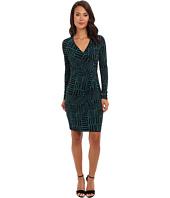 Calvin Klein - Matte Jersey Printed Wrap Dress