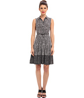 Calvin Klein - Printed Sleeveless Belted Shirtdress CD4H9TYF